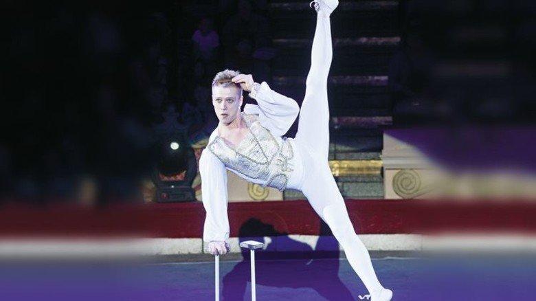 Akrobaten und Dompteure: Top-Artisten wie Boris Nikishkin sind die Highlights bei den Zirkussen. Foto: Veranstalter