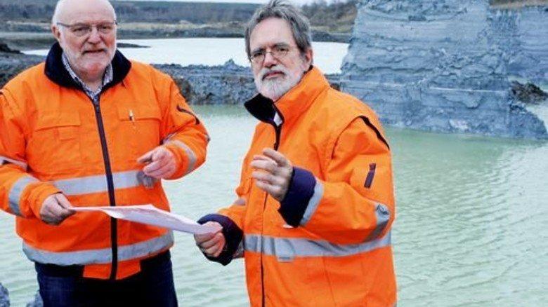 Männer mit Plan: Gottfried Tolonits (links) und Harald Rötschke. Foto: Sturm