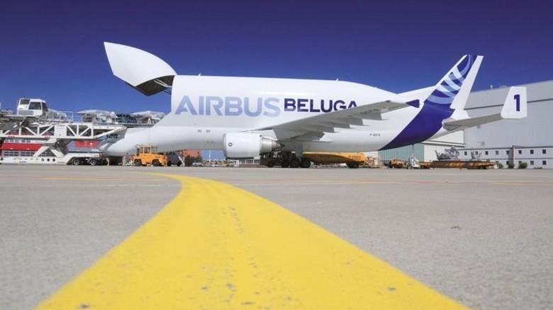 """Der Vorgänger: Die """"Beluga"""" wurde Anfang der 90er Jahre gebaut. Foto: Airbus"""