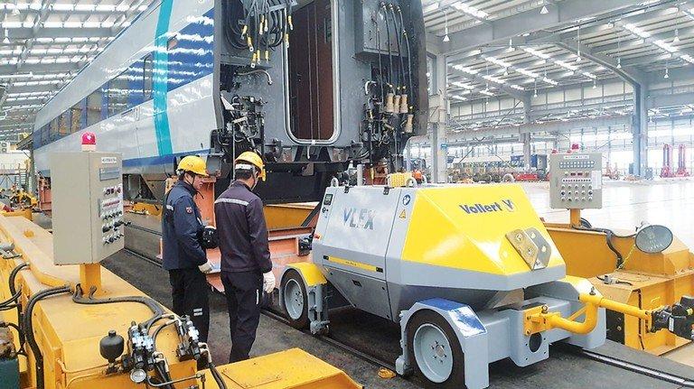 Oha: Dieser kompakte Robot rangiert mühelos Metrobahnen in Seoul.