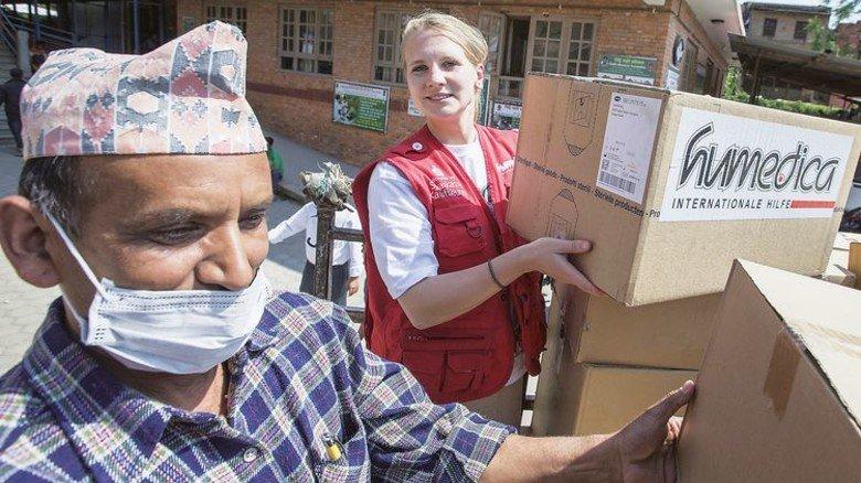 Einsatz in Nepal: Nach der schweren Erdbeben-Katastrophe im Jahr 2015 war Maren Wiese mit Humedica einige Wochen vor Ort, um zu helfen. Foto: Jorda