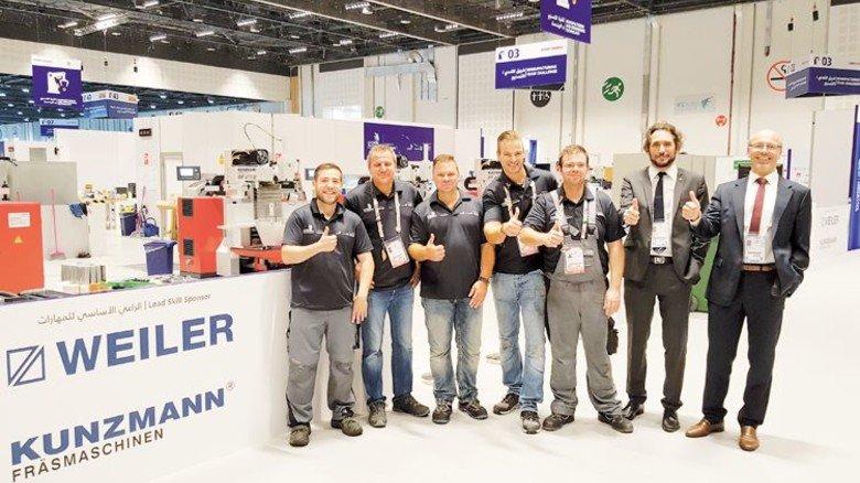 Sponsor: Maschinen von Weiler und Kunzmann bei der Berufe-WM WorldSkills. Foto: Werk
