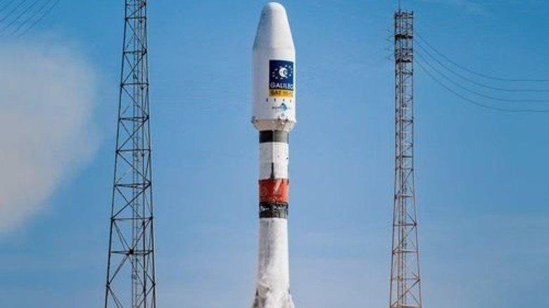 Los geht's: Eine Sojus-Rakete beim Start. Foto: dpa