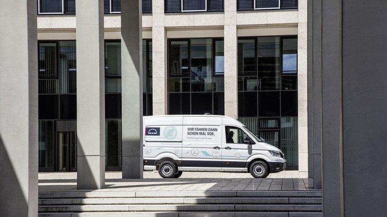 Serienreif: Der Transporter eTGE von MAN ist das erste Serienfahrzeug der Münchner mit rein elektrischem Antrieb.