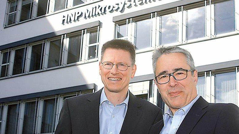 Erfolgreich: Die HNPM-Chefs Gerald Vögele und Thomas Weisener (rechts). Foto: Werk