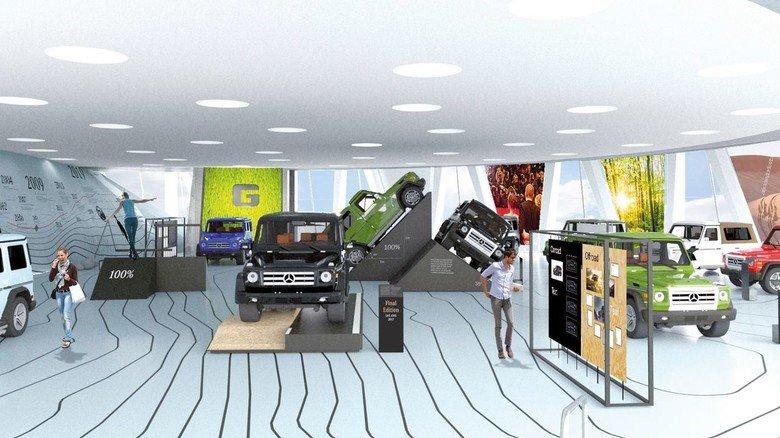 """Das Mercedes-Benz-Museum zeigt die Ausstellung """"G-Schichten"""": Hier dreht sich alles um die geländegängige G-Klasse, die ihren 40. Geburtstag feiert."""