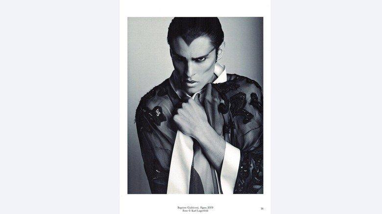 Lagerfeld-Foto: Baptiste Giabiconi, Vogue, 2009.