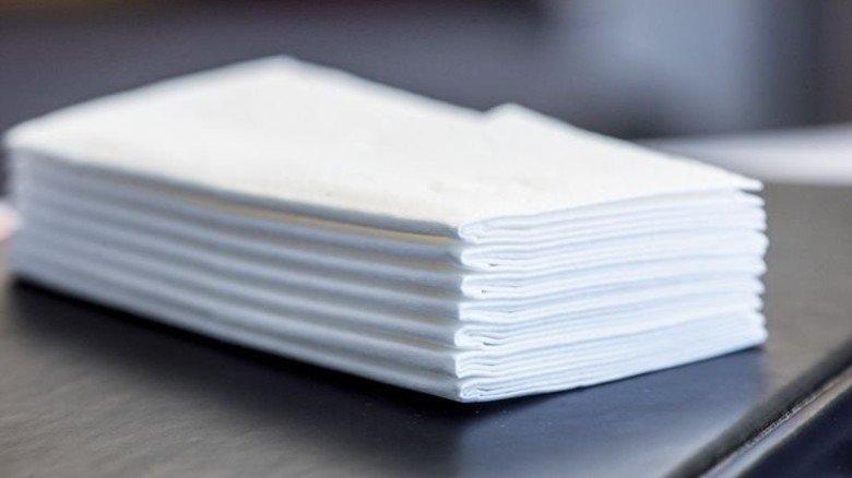 Taschentücher: 77 Stück pro Sekunde werden hier produziert. Foto: Strassmeier